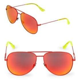 Saint Laurent 59MM Fluro Aviator Sunglasses
