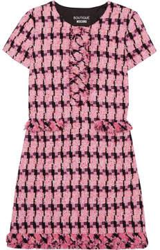 Moschino Tweed Mini Dress - Fuchsia