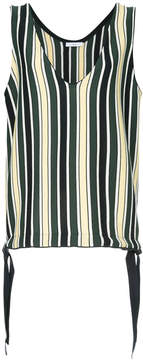 ASTRAET striped tie hem cami