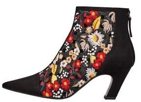 MANGO Floral embroidered ankle boots