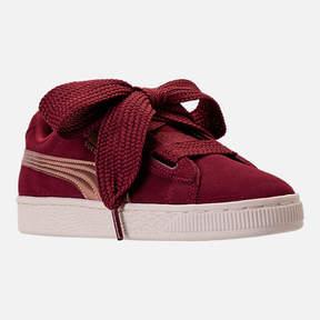 Puma Girls' Grade School Suede Heart Copper Casual Shoes