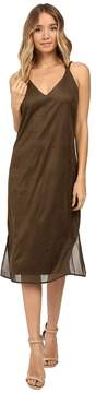 Brigitte Bailey Hadley Spaghetti Strap Micro Suede Dress Women's Dress
