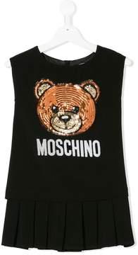 Moschino Kids sequinned bear dress