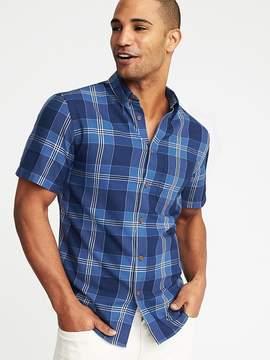 Old Navy Slim-Fit Indigo-Plaid Shirt for Men