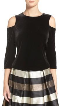 Eliza J Women's Cold Shoulder Velvet Top