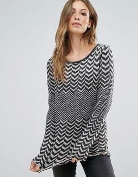 Bellfield Botawik Herringbone Jacquard Knit Sweater