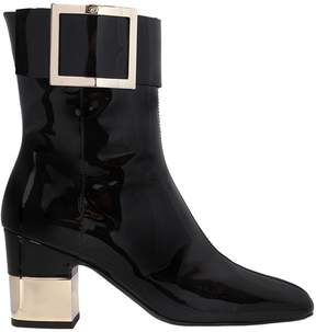 Roger Vivier 70mm Podium Patent Leather Ankle Boots