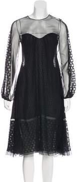 Alessandro Dell'Acqua Silk Evening Dress w/ Tags