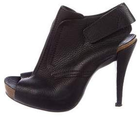 Pedro Garcia Leather Peep-Toe Booties