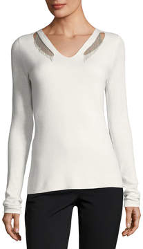 T Tahari Chain Cutout Sweater