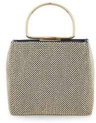 La Regale Embellished Frame Top Handle Bag