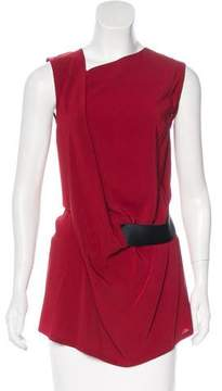 Ann Demeulemeester Sleeveless Asymmetrical Top