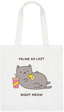 Forever 21 Feline So Lazy Graphic Tote