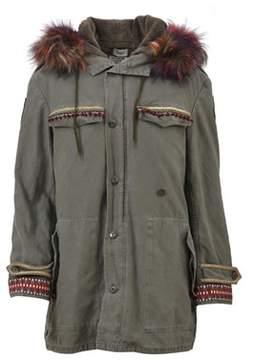 Bebe Women's Grey Cotton Jacket.