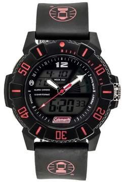Coleman Men's Ana-Digi Strap Watch - Black/Red
