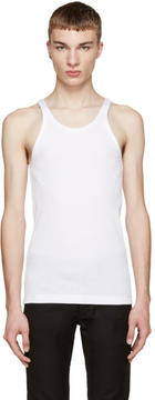 Dolce & Gabbana White Ribbed Tank Top