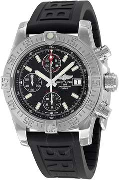Breitling Avenger II Black Dial Chronograph Black Rubber Automatic Men's Watch A1338111-BC32BKPD3