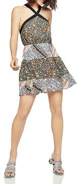 BCBGeneration Mixed Print Tiered Dress