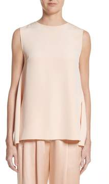 ADAM by Adam Lippes Knot Back Silk Crepe Top