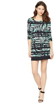 BCBGMAXAZRIA Palm Printed Maternity Dress