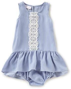 Bonnie Jean Bonnie Baby Baby Girls 12-24 Months Sleeveless Pinstripe Dress