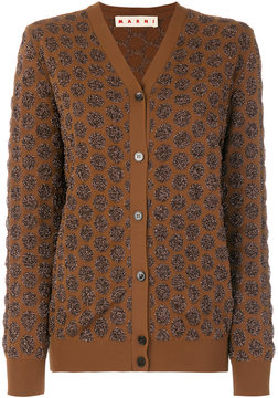 Marni textured dot pattern cardigan