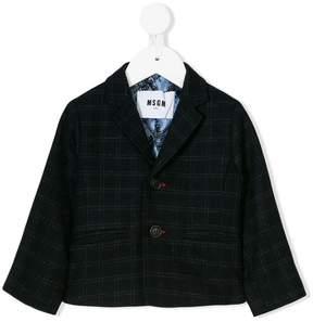 MSGM classic checked blazer