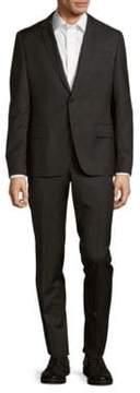 Pierre Balmain Solid Narrow Fit Wool Suit