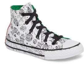 Converse Girl's Chuck Taylor All Star Christmas Coloring Book High Top Sneaker