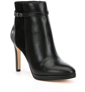 Antonio Melani Kingstan Strap and Buckle Detail Dress Booties