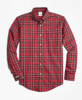 Brooks Brothers Non-Iron Regent Fit Royal Stewart Tartan Sport Shirt