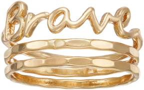 Lauren Conrad Brave Script Ring Set