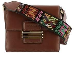 Etro Women's Brown Leather Shoulder Bag.