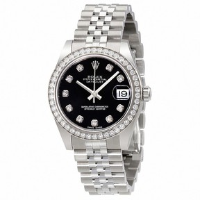 Rolex Datejust Lady 31 Black Dial Stainless Steel Jubilee Bracelet Automatic Watch