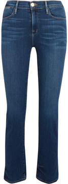Frame Le High Straight Cropped Jeans - Blue