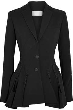 Antonio Berardi Cutout Button-detailed Crepe Blazer - Black