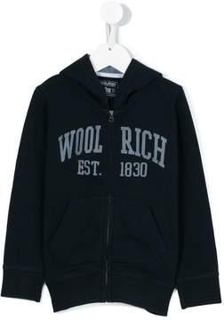 Woolrich Kids logo hoodie