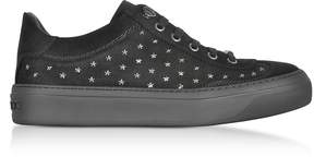 Jimmy Choo Ace UMP Black Suede w/Stars Lace up Sneakers