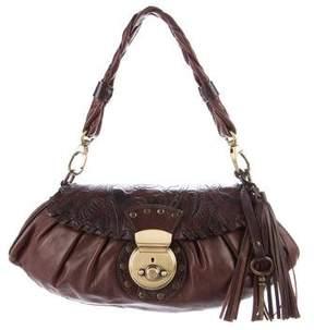 Barbara Bui Leather Braided Handle Bag