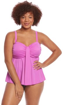 Fit 4 U Fit4U Swimwear Plus Size Solid Waterfall Bandeau Top 8125115