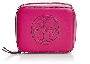 Tory Burch Charlie Medium Leather Jewelry Case - PARTY FUSCHIA/GOLD - STYLE