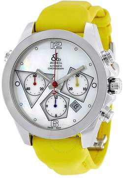 Jacob & co Jacob and Co. Automatic Chronograph Mother of Pearl Men's Watch