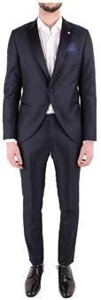 Manuel Ritz Men's Blue Polyester Suit.