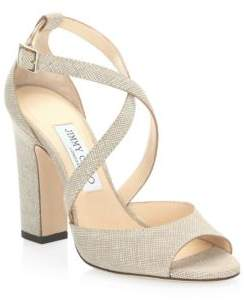 Jimmy Choo Canvas Leather Sandals