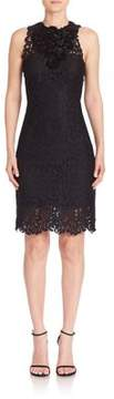 Elie Tahari Donna Embellished Lace Sheath Dress