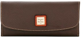 Dooney & Bourke Pebble Grain Slim Continental Clutch Wallet - CHOCOLATE - STYLE