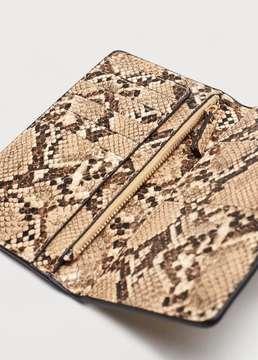 Violeta BY MANGO Animal skin effect wallet
