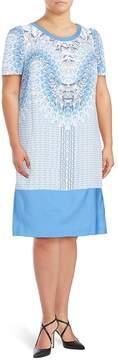 Basler Women's Printed Short-Sleeve Dress