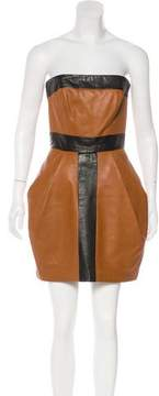 Martin Grant Leather Colorblock Dress