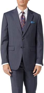 Charles Tyrwhitt Light Blue Slim Fit Twill Business Suit Wool Jacket Size 36